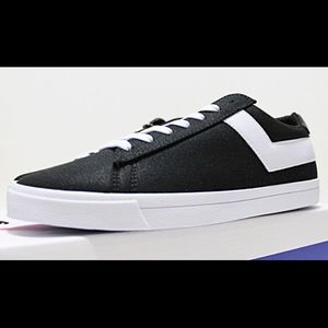 NIB PONY Top Star Men's Black Canvas Low Top 9
